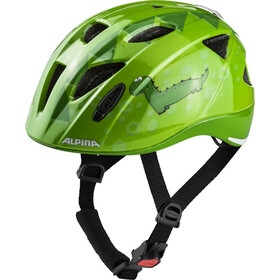 Alpina Ximo Flash Casco Niños, green dino